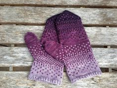 ~~ This listing is for a PDF PATTERN of the mittens pictured. ~~ Be sure to check out the Purple Rain Hat to match your new hat! Also available in my