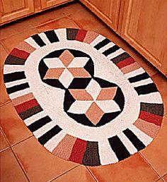 Free Crochet Pattern 1299 Desert Star Rug : Lion Brand Yarn Company