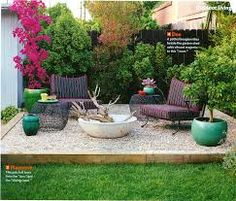 potted back yard landscaping - Google Search                                                                                                                                                                                 More