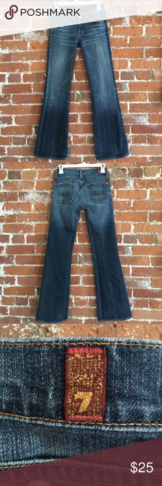 7 for all mankind flare jeans size 25 - NWOT 7 for all mankind flare jeans size 25 - NWOT. Bought these last year, removed tags and never wore them... just tried on. Perfect condition. 7 For All Mankind Jeans Flare & Wide Leg