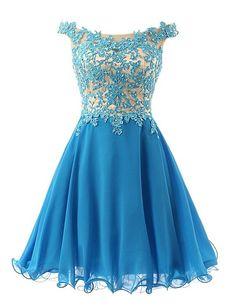 Hd08195 Charming Homecoming Dress,Chiffon Homecoming Dress,Appliques Homecoming Dress, Short Noble Homecoming Dress