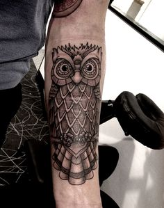Owl tat over scars.