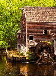 Water Wheel at Sleepy Hollow Manor House by PhotosbyJerryCowart, $27.50