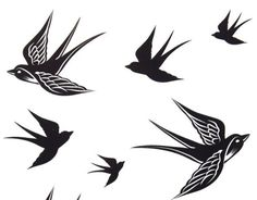 opter pour les hirondelles en tant que tatouage original