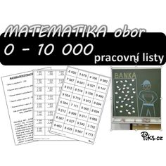 PL - matematika 0 - 10 000 Periodic Table, Biology, Periodic Table Chart, Periotic Table