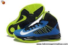 Buy Cheap For Men Black Blue Neon Green Nike Lunar Hyperdunk 2013 Sports Shoes Shop