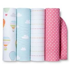 Circo™ 4pk Flannel Receiving Blankets - Balloon Ride