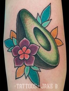 Avocado tattoo - Tattoos by Jake B