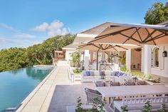 Inside Kate Middleton and Prince William's incredible villa on private Caribbean island Mustique Jacuzzi, Kate Middleton, Style Villa, Colonial, Bedroom Pictures, Private Garden, Luxury Villa, Prince William, Caribbean