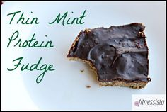 Thin mint protein fudge! Can't wait to make this!!
