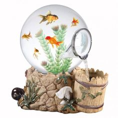 Magic Globe Fountain Well Aquarium, Pet Supplies on Wanelo Modern Fish Tank, Unique Fish Tanks, Cool Fish Tanks, Freshwater Aquarium Fish, Aquarium Fish Tank, Amazing Aquariums, Home Aquarium, Aquarium Ideas, Beta Fish