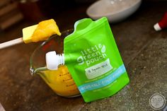 Little green pouch reusable baby food holder
