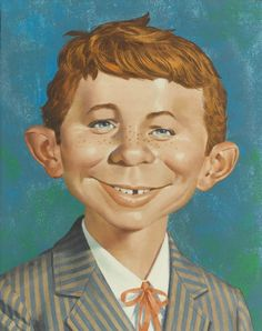 ALFRED E. NEUMAN PAINTING: MAD SPECIAL #39 ( 1982, NORMAN MINGO ) Comic Art