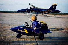 Blue Angels Military Jets, Military Aircraft, Us Navy Blue Angels, Go Navy, Aircraft Photos, Vintage Airplanes, Kids Ride On, Pedal Cars, Air Show