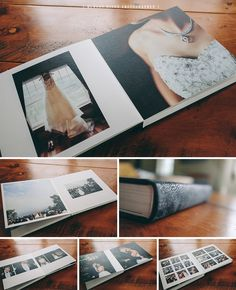 Queensberry Wedding Album | 12x12 Duo Album with Contemporary Graphite Leather Cover | Hudson River Photographer