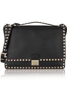 Valentino Rockstud leather shoulder bag | THE OUTNET
