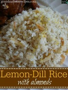 Lemon-Dill Rice with Almonds