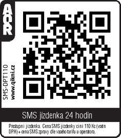 MHD Praha QR kód na SMS jízdenku na 24 hodin