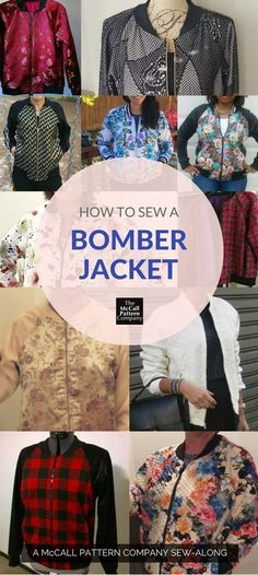 Want to sew a bomber jacket? This pin leads to an index of posts that will walk you through the steps to making your own fabulous bomber jacket.