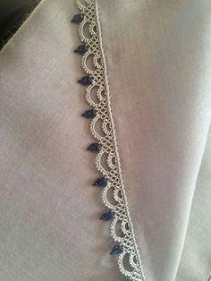 Newest Needle Lace Models Page – 3 Newest Needle Lace … – Hair World Ideas Crochet Edging Patterns, Crochet Lace Edging, Crochet Borders, Baby Knitting Patterns, Crochet Stitches, Needle Tatting, Tatting Lace, Needle Lace, Bobbin Lace