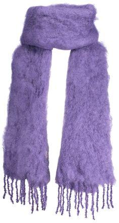 Kid mohair scarf, 35x160cm, royal purple