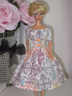 OOAK Vintage Barbie Doll Dress Reproduction Repro Barbie Clothes.