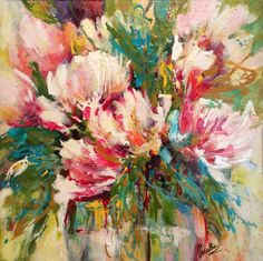 Original Floral Painting by Jacintha Krish Protea Art, Art Floral, Acrylic Painting Canvas, Canvas Art, Abstract Expressionism Art, Original Paintings, Original Artwork, Cool Drawings, Flower Art