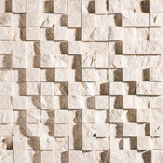 Desert Cream Rock Face 12 5/8x12 5/8 1x1 Marble Mosaics  $11.44/pcs