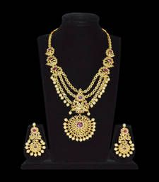 polki uncut ruby traditional bridal necklace set