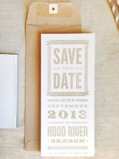 DIY Rubber Stamp Save the Date Ideas via Oh So Beautiful Paper