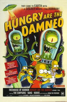 In Hungry are the Damned, when the Rigellians are measuring the Simpsons' weight, along with Kang, Kodos, and Serak, there is a fourth unnamed Rigellian with them that does not appear for the rest of the episode.
