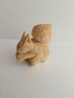Hand caved wood animals