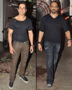 #Bollywood #Director #RohitShetty, who turned a producer with #SinghamReturns, was snapped at the bash. Also spotted was actor #SonuSood, who was last filmed in #SRK starrer 'Happy New Year'.  For more pictures click here : www.biscoot.com  #Bollywood #Celebs #UpcomingBollywoodMovie #BollywoodFilms #Biscoot #CelebrityPhotos
