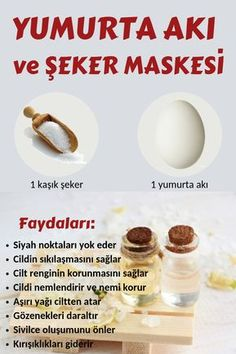 Yumurta Akı ve Şeker Maskesi ile Siyah Noktalara Son End Blackheads with Egg White and Sugar Mask Beauty Tips For Face, Health And Beauty Tips, Beauty Secrets, Beauty Hacks, Diy Beauty, Beauty Ideas, Beauty Products, Beauty Guide, Health Tips