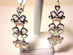 NWT Cole Haan Shoulder Duster Earrings Semi-Precious Stones Retail $128 #ColeHaan #DropDangle