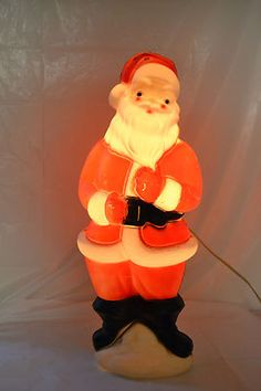 vintage christmas blowmold santa claus light up yard decoration 1973 22 1 2 ebay - Plastic Christmas Yard Decorations