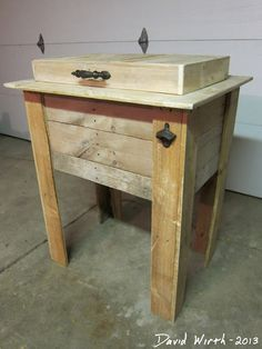 easy to build cooler, pallet, wood, project