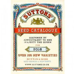 2016 Suttons Seed Catalogue Preview