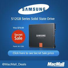 Snag a great deal on a Samsung pro series 512GB internal SSD.
