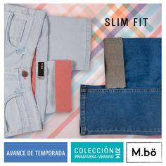 Jean Slim fit interior en contraste. #mbo #avance #2013 #jeans