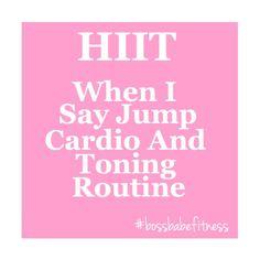 When I Say Jump HIIT Workout - Fun Fitness Blender HIIT Cardio And Toning Routine ---> https://www.youtube.com/watch?v=dlOayNdj_P0&index=37&list=PL5lPziO_t_ViN5Mu1b17pTIGHfHgXf_Bi