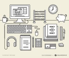 artwork for 'CreativeMornings presented by Squarespace' / by Tim B Delaars