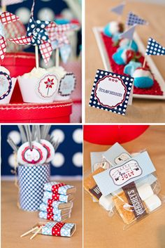 Fabulous Features by Anders Ruff Custom Designs: {New to the Shop} 4th Of July Pinwheels Collection