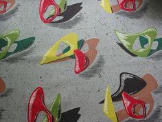 Vintage Midcentury Modern Atomic Barkcloth   Flickr - Photo Sharing!