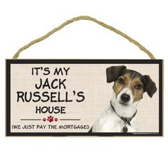 Imagine This Wood Breed Decorative Mortgage Sign, Jack Russell ** You can get more details here : Dog Memorials