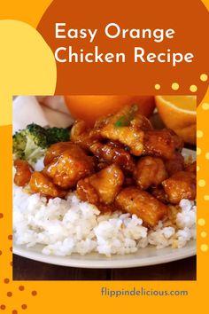 Orange Chicken Sauce, Baked Orange Chicken, Healthy Orange Chicken, Healthy Chicken Recipes, Pf Chang Orange Chicken Recipe, Home Made Orange Chicken, Cooking Recipes, Chinese Orange Chicken, Easy Sesame Chicken