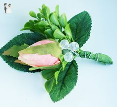 Classic Coral Rose Boutonniere - Silk - Wedding table decor (*Amazon Partner-Link)