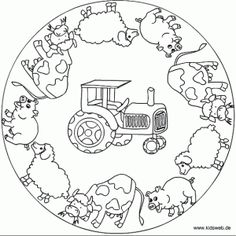 Animals mandala coloring page | Crafts and Worksheets for ...