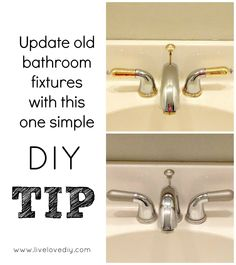 Home Improvement Ideas: How To Update Bathroom Fixtures DIY Spray Paint