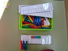 Plastificando ilusiones: Mi material en el rincón de los números
